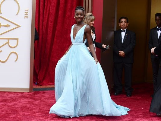 Hooray for Lupita Nyong'o! Well-deserved recognition and a heartfelt acceptance.